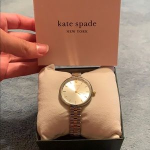 NWT Kate Spade Watch Silver & Gold